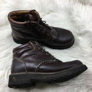 Ariat Boots Leather Lace Up Size 9.5